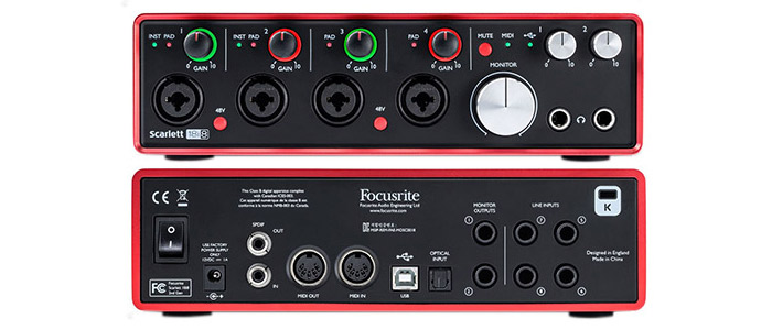 focusrite scarlett 18i8 2nd gen hudobn n stroje hudobniny gitary klav ry kl vesy. Black Bedroom Furniture Sets. Home Design Ideas